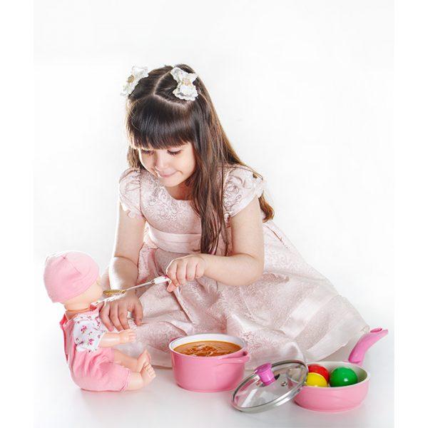 سرویس پخت و پز کودک 5 پارچه عروس مدل ویکتوریا