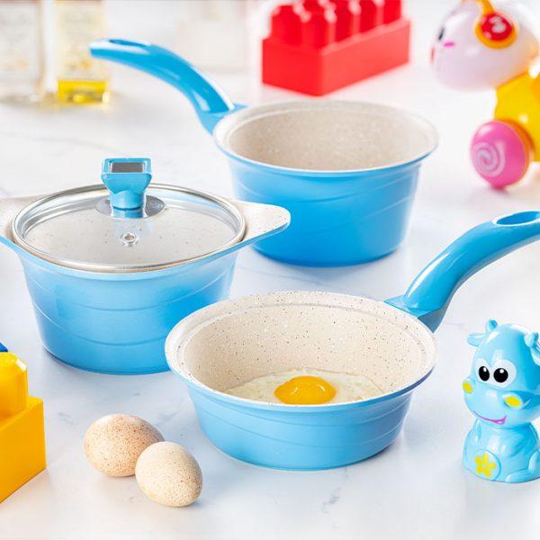 سرویس پخت و پز کودک 4 پارچه عروس مدل دیاکو