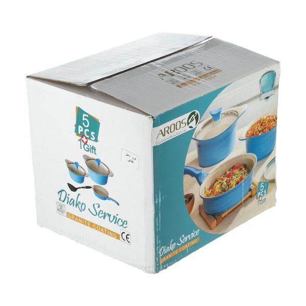سرویس پخت و پز 5 پارچه عروس مدل دیاکو + هدیه