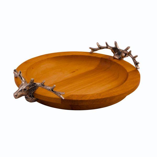 ظرف پذیرایی چوبی ورونا کد 201 طرح گوزن