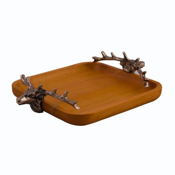 ظرف پذیرایی چوبی ورونا کد 203 طرح گوزن